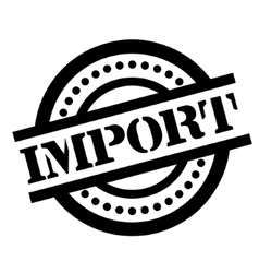 Import rubber stamp vector