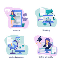 internet education web classroom for distance vector image