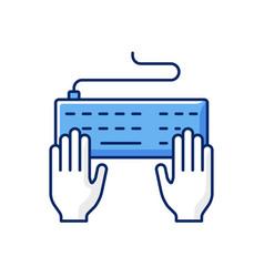 Keyboard rgb color icon vector