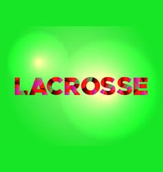 Lacrosse concept colorful word art vector