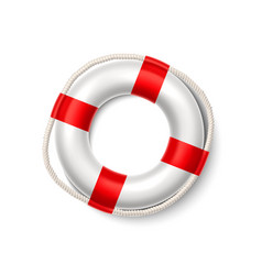 life buoy safety ring lifeguard resqcuer vector image