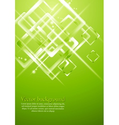Light green geometrical design vector image