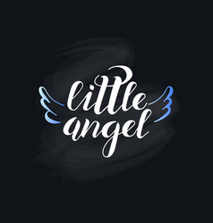 little angel on black background vector image