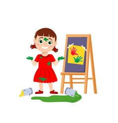 Little girl behavior vector