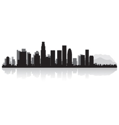 Los Angeles USA city skyline silhouette vector image