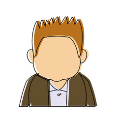 Man character adult avatar profile picture vector