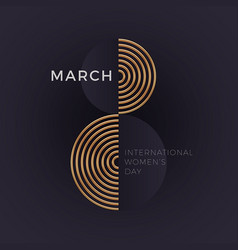 March 8 - international womens day greeting card vector