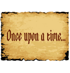once upon a time vector image