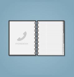 Open phone ebook vector