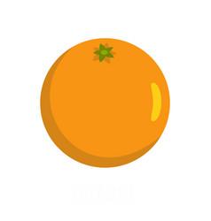 orange icon flat style vector image