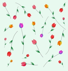 Pattern of tulips vector