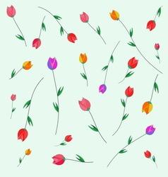 Pattern tulips vector