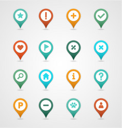Pin map icon set map pointer map markers vector