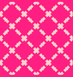 Pink abstract geometric seamless mesh pattern vector