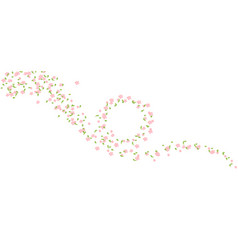 pink cherry blossom clipart spring background vector image