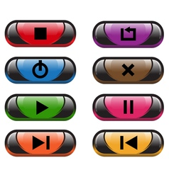 Plastic control buttons vector image