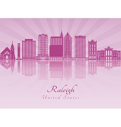 Raleigh V2 skyline in purple radiant orchid vector image