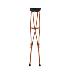 Retro crutches in wooden design vector