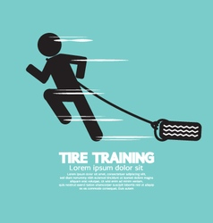 Runner With Tire Training Symbol vector image