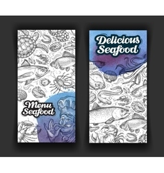 seafood template design menu restaurant or diner vector image