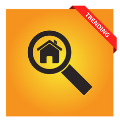Search house icon for web and mobile vector