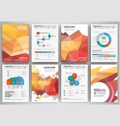 Set business flyer design infographic layout vector