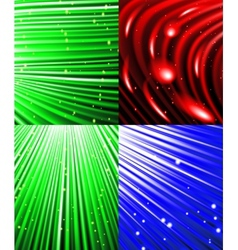 Set of background o colourful luminous rays vector