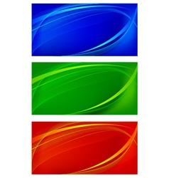 Set of wavy background vector image