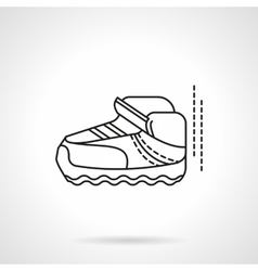 Single sneaker flat line design icon vector image