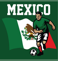 Soccer player of mexico vector
