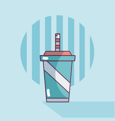 soda on plastic cup vector image