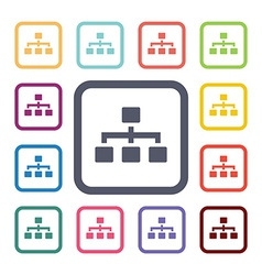 Structure flat icons set vector