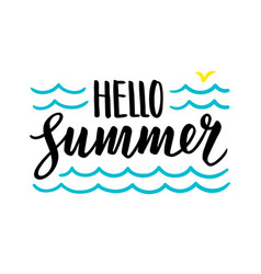 summer calligraphic lettering vector image