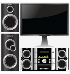 Surround stereo system vector
