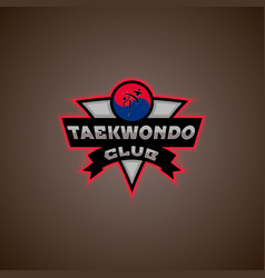 taekwondo logo vector image