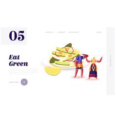 Thai restaurant meal national menu website vector