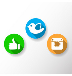 thumb up icon bird camera vector image