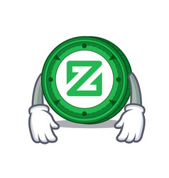Tired zcoin mascot cartoon style vector