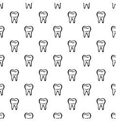 Tooth pattern seamless vector
