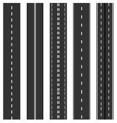 Vertical highway seamless roads collection vector