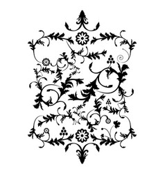 vintage style background ornament isolated over vector image