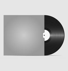 vinyl record in an envelope to the plate vector image