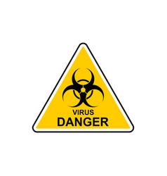 Virus icon biohazard virus in flat style vector