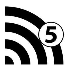 wi-fi 5g vector image