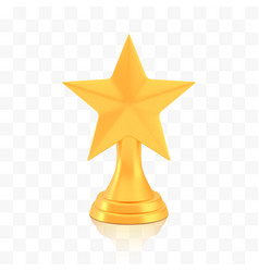 winner star cup award golden trophy logo isolated vector image