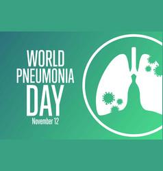 World pneumonia day november 12 holiday concept vector