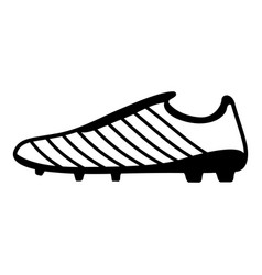 football boots icon simple black style vector image vector image
