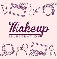 Makeup and cosmetics design vector