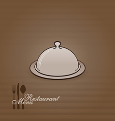 menu with cover vector image vector image