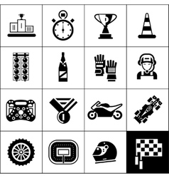 Racing Icons Black vector image vector image